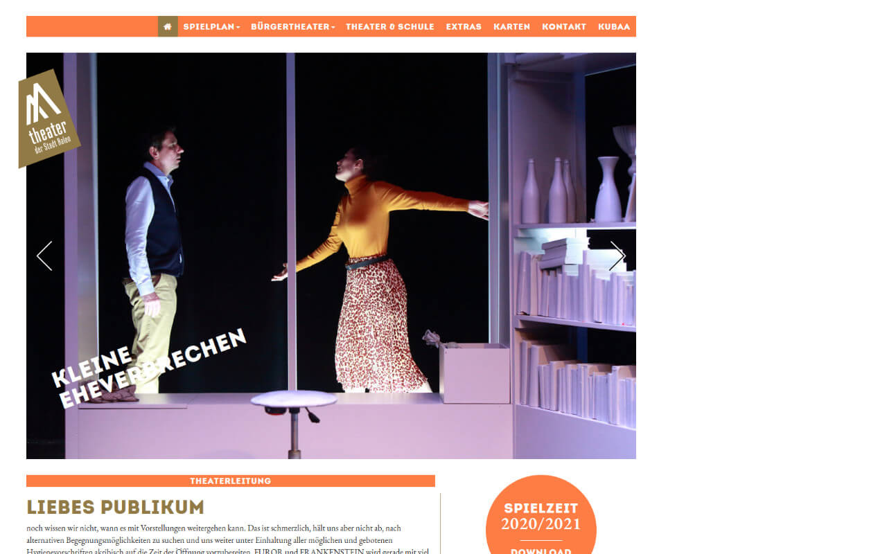 Theater Aalen: Theater Aalen / Website / Home