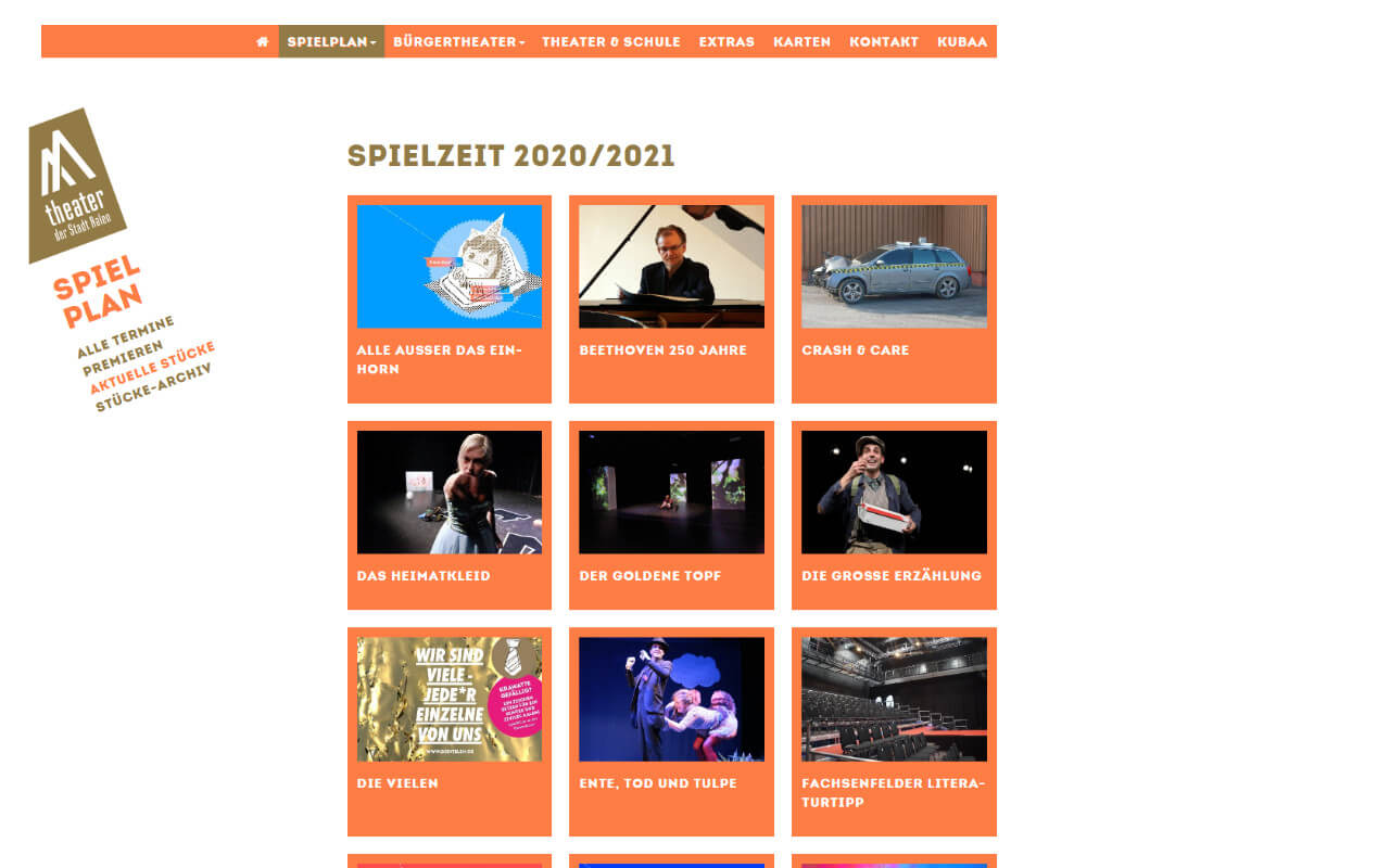Theater Aalen: Theater Aalen / Website / Spielzeit