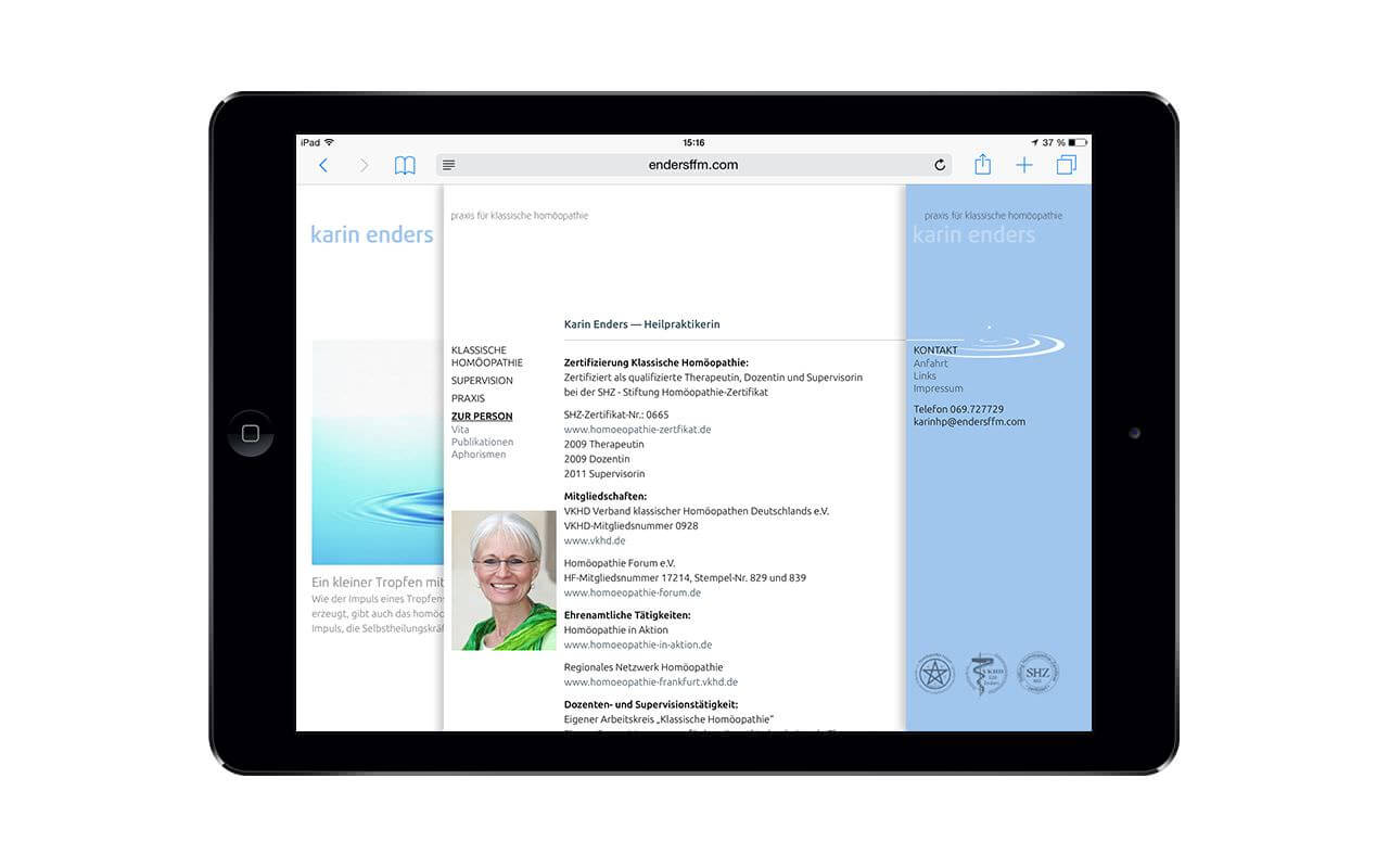 Karin Enders: iPad Air / Kontakt (Originalansicht)