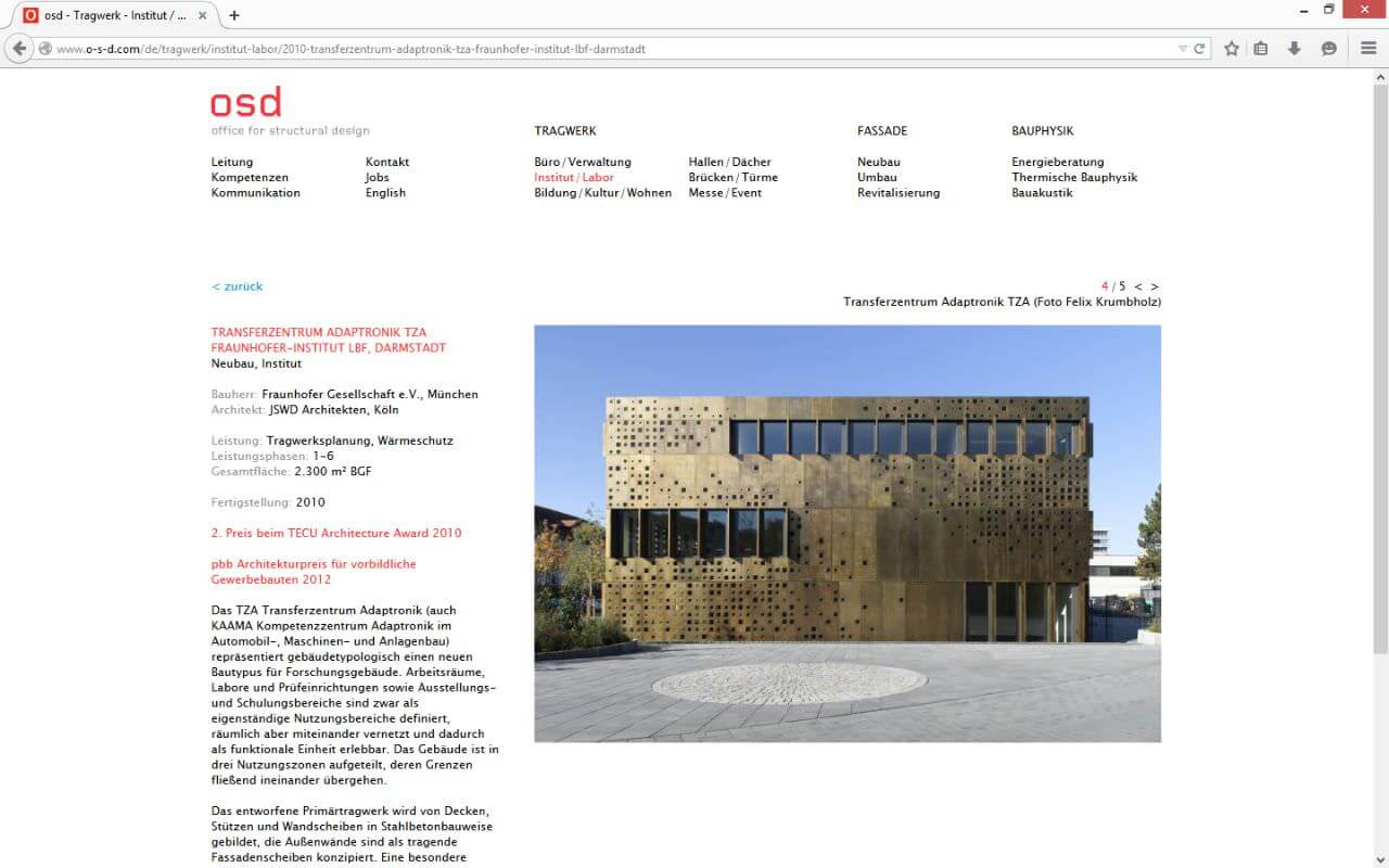 osd - office for structural design: Institut/Labor - Transferzentrum