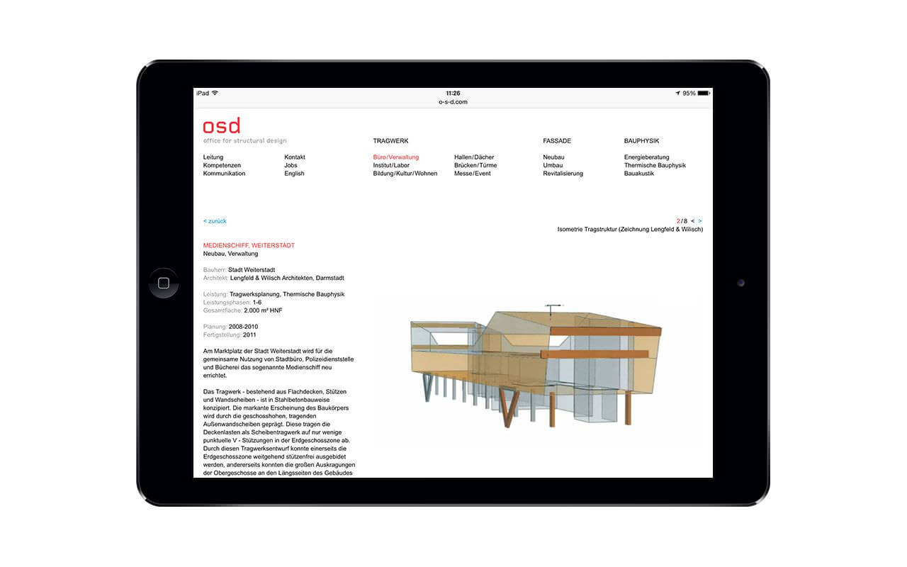 osd - office for structural design: iPad Air / Projekt (Originalansicht)