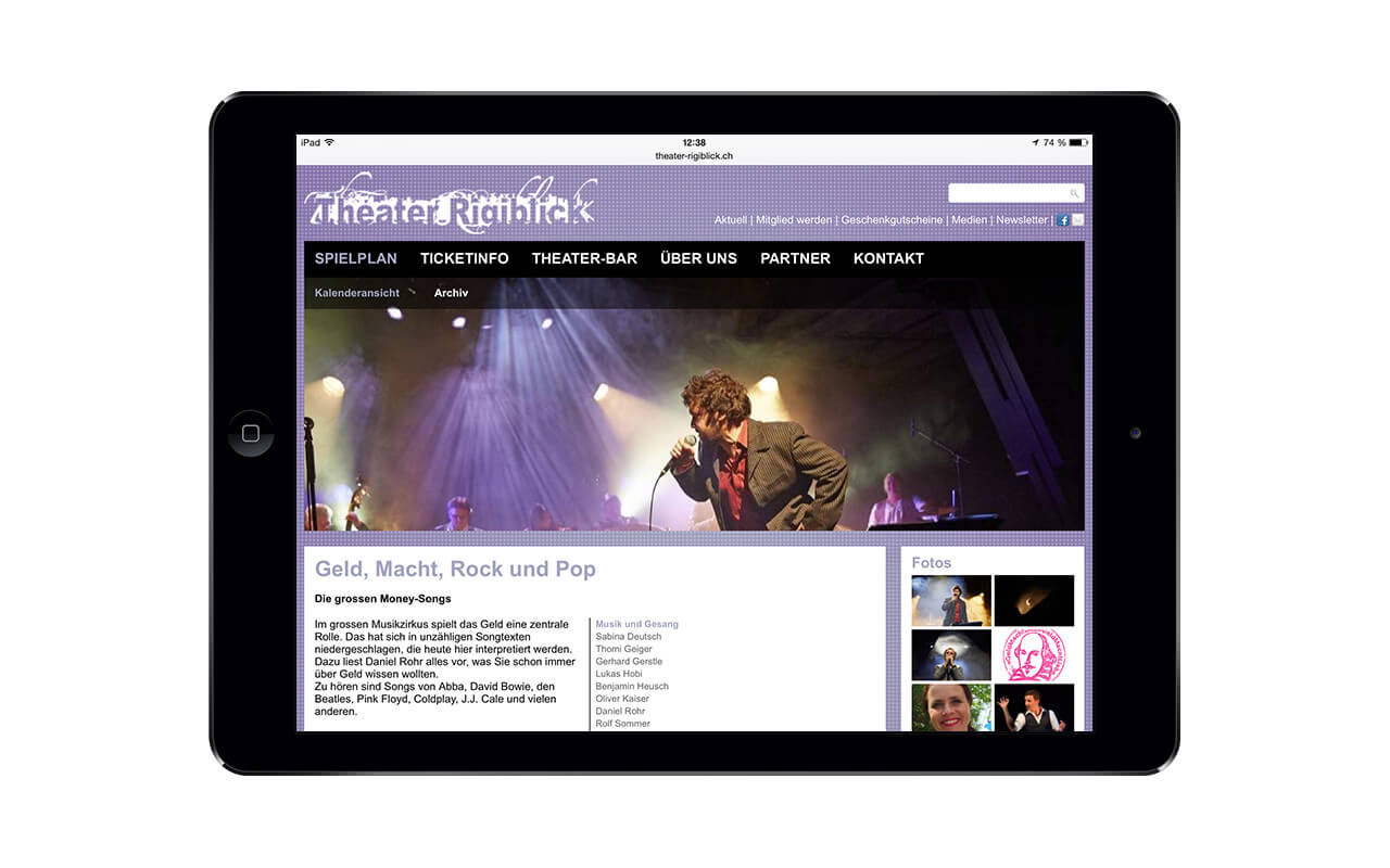Theater Rigiblick: iPad Air (Originalansicht)