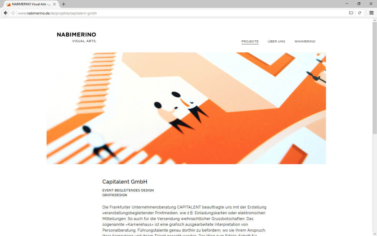 NABIMERINO Visual Arts.: Projekt - Capitalent - Header