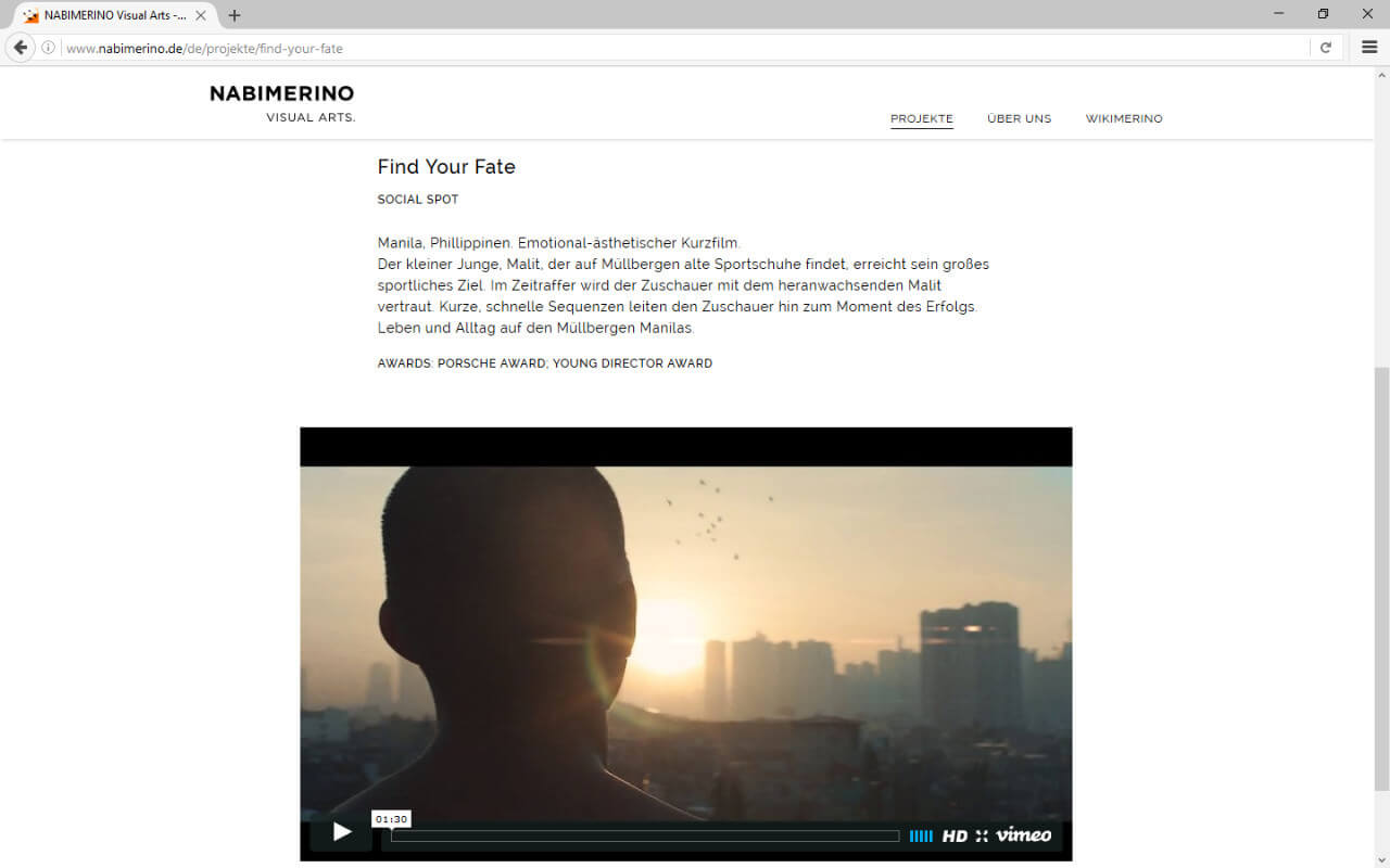 NABIMERINO Visual Arts.: Projekt - Find your fate - Film
