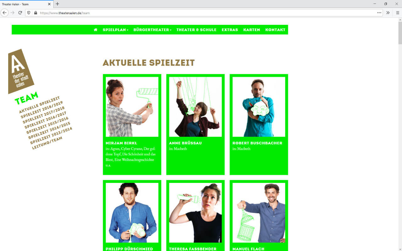 Theater Aalen: Webdesign / Theater Aalen / Team