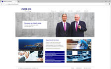 Indeco-Consulting GmbH: Webdesign / Indeco Consulting / Landing Page