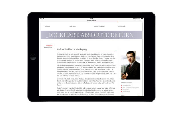 Lockhart. Absolute Return: iPad Air / Andrew Lockhart (Originalansicht)