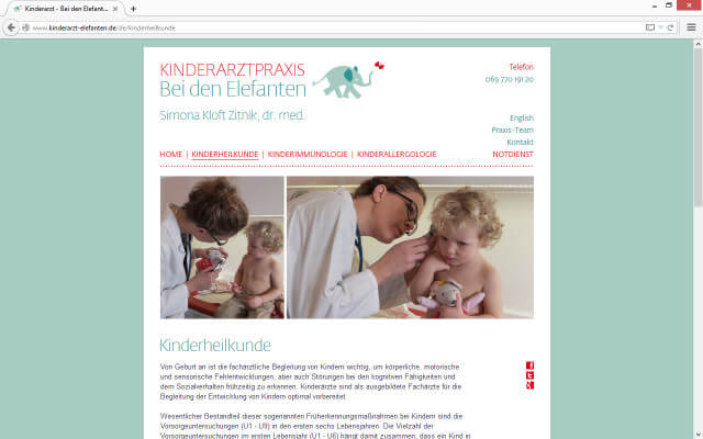 Screenshot Kinderheilkunde