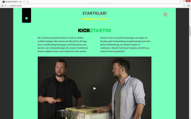 Screenshot Kickstarter