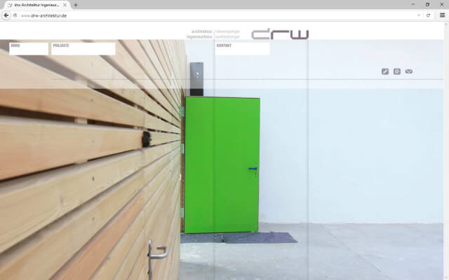 Screenshot Webdesign / drw Architektinnen