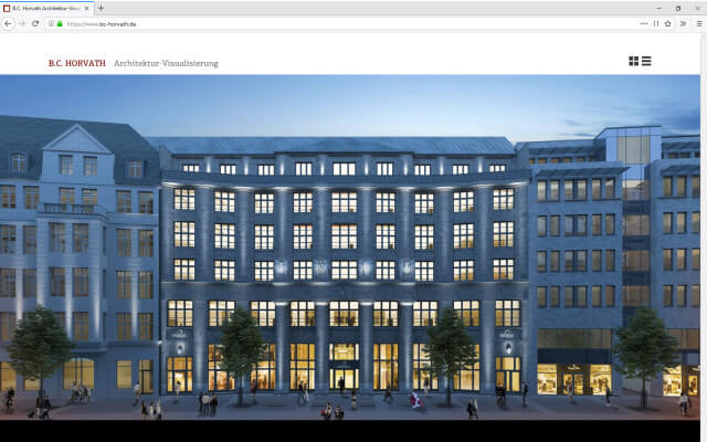 B.C. Horvath Architektur-Visualisierung: Webdesign BC Horvath / Startseite